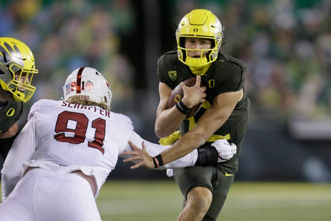 Former Oregon starting quarterback Tyler Shough is transferring to Texas Tech.