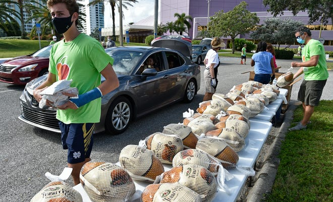 All Faiths Food Bank handed out over 700 turkeys in downtown Sarasota on Nov. 7, with the assistance of donors and volunteers.