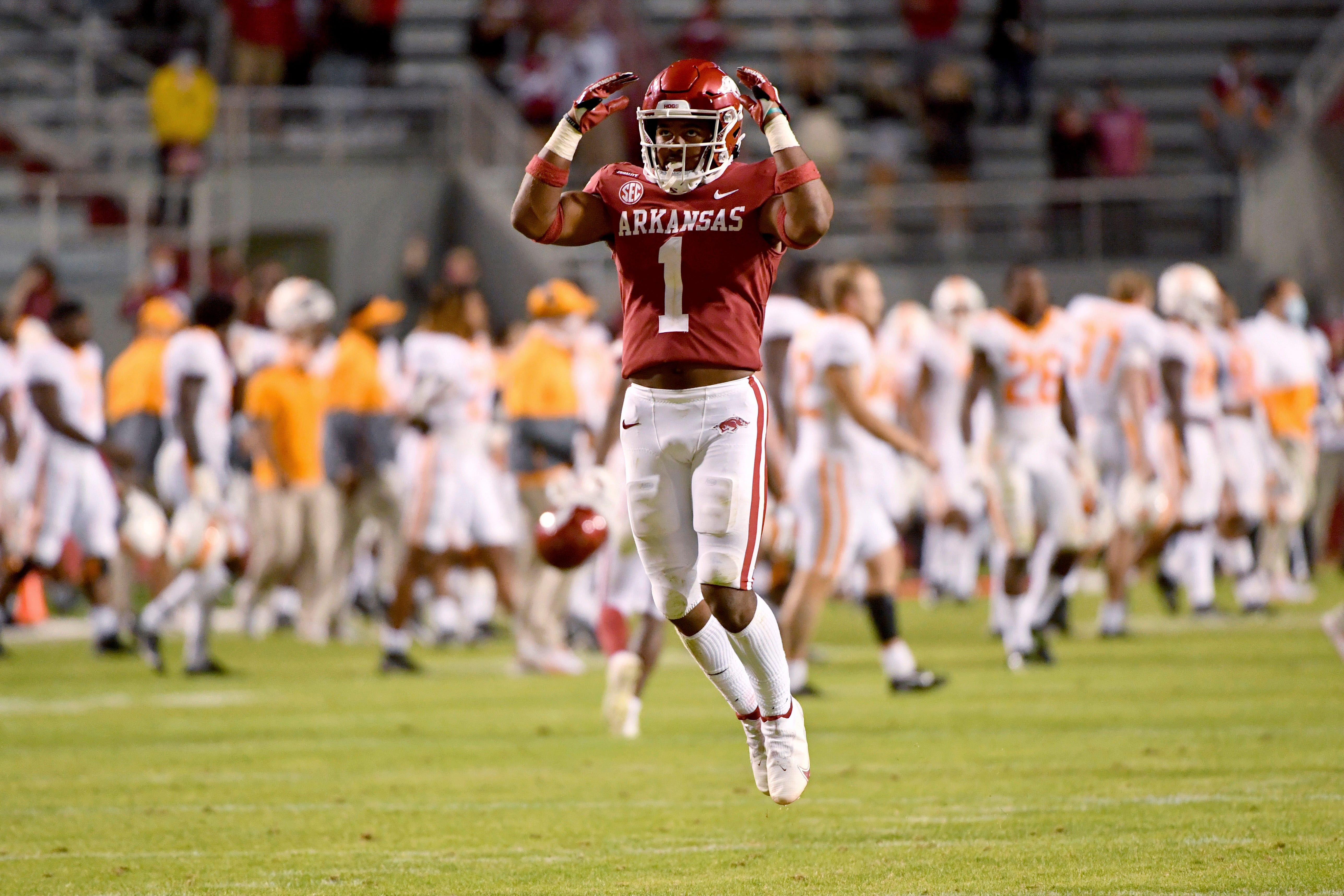 Arkansas DB Jalen Catalon Ejected For Targeting Vs LSU Football
