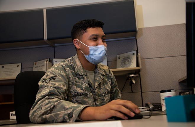 Airman 1st Class Yobanni Calderon, 42nd Medical Materiel professional, is recognized in honor of 4A Appreciation Week here, November, 6, 2020. 4A Appreciation Week gives thanks to healthcare administration Airmen. The medical squadron held events on base all week to pay tribute to the hardworking healthcare administrators who have been working tirelessly throughout the COVID-19 pandemic.