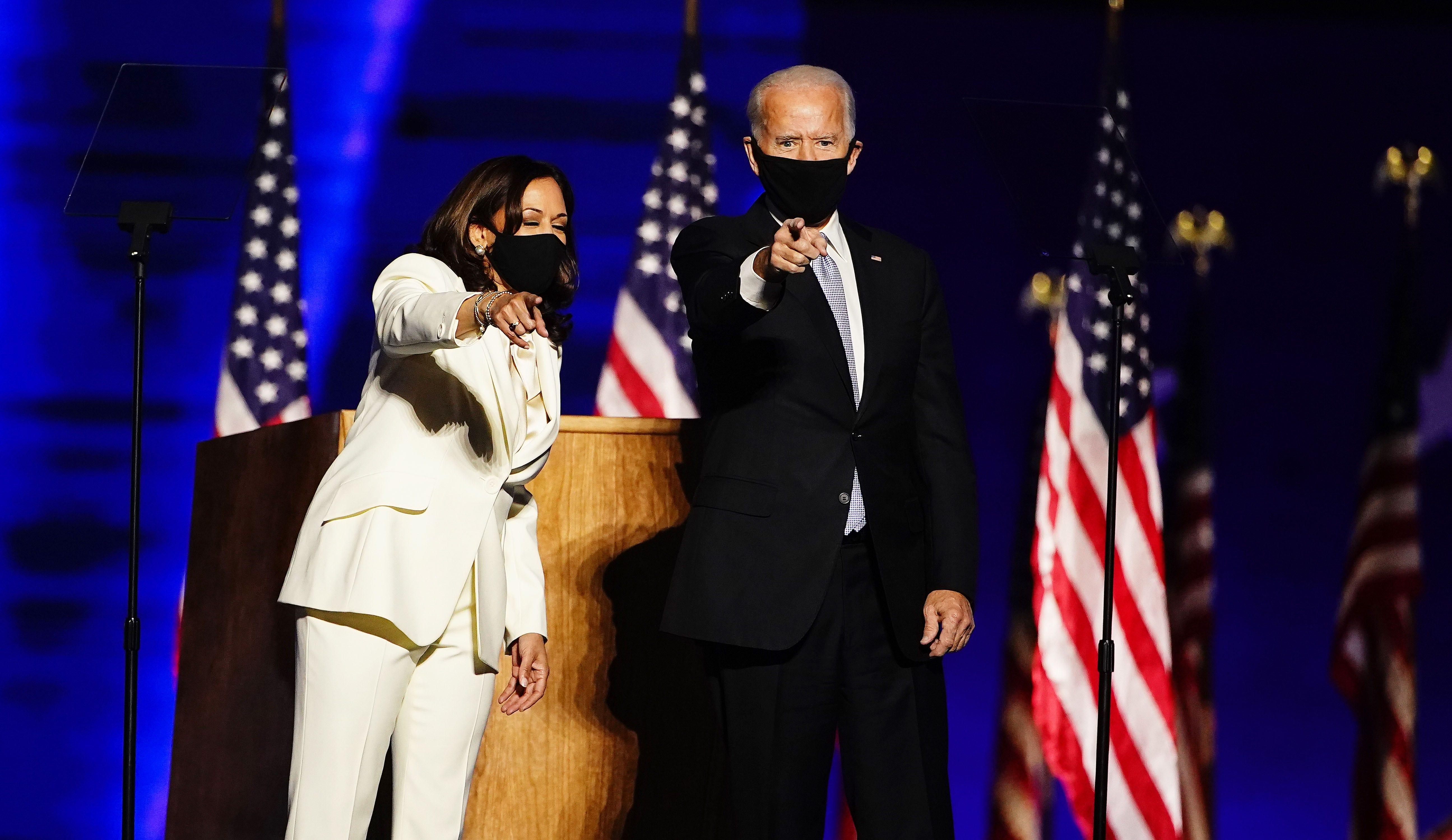 Time to heal in America : President-elect Joe Biden, VP-elect Kamala Harris talk of unity