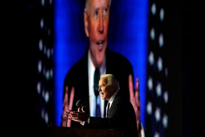 President-elect Joe Biden addresses the nation Saturday in a speech that was carried by multiple TV networks.