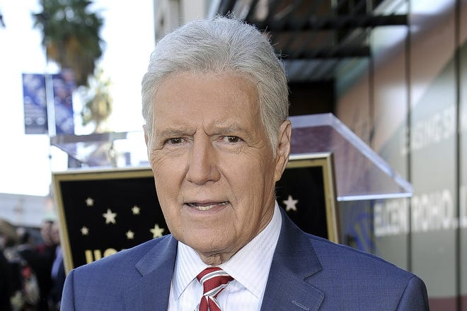 "Alex Trebek, host of ""Jeopardy!"" and shown in this Friday, Nov. 1, 2019, photo died Sunday , Nov. 8, 2020, after battling pancreatic cancer for nearly two years. Trebek died at home with family and friends surrounding him, Sony said in a statement. Trebek presided over the beloved quiz show for more than 30 years."