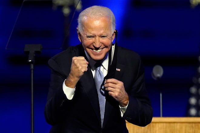 President-elect Joe Biden on Nov. 7, 2020, in Wilmington, Delaware.