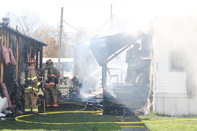 Ashland Fire Department and EMS and the Ashland Police Division respond Sunday morning to three mobile homes on fire in Ashland. No one was injured and Red Cross was called to the scene to help the residents. The fire still is under investigation.