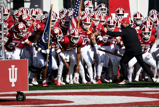Indiana coach Tom Allen prepares to unleash his team against Michigan on Saturday. Hours later, the Hoosiers would claim their first win over the Wolverines since 1987.