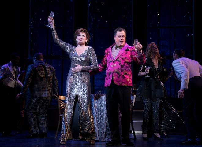 """Beth Leavel as Dee Dee Allen and Brooks Ashmanskas as Barry Glickman in the musical """"The Prom."""""""