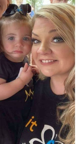 Devoni Danos of Raceland and her daughter Daisy Stokes.