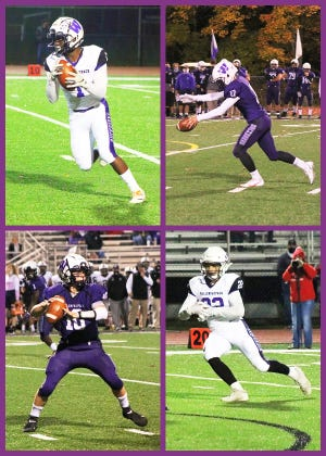 Clockwise from top left: Shadrak Agyei, Roman Levant, TJ Schmalzle, and Alex Gardsy provided the Buckhorns with a major amount of its offensive effort this past season.