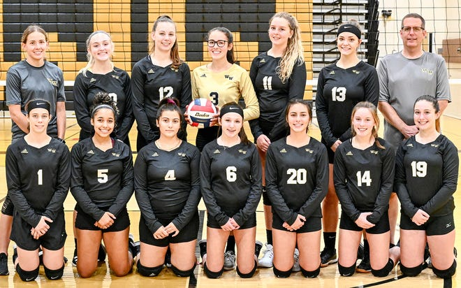 Western Wayne's girls varsity volleyball team has officially closed out another solid season in Lackawanna League and District Two action. The Lady 'Cats fell to perennial powerhouse Holy Redeemer in the Class AA championship game. Pictured here are (first row, from left): Kaeli Romanowski, Jaque Morris, Adrianna Barcarola, Lexi DeSiato, Taylor Maiocco, Allie Pauler, Trinity Foulds. Second row: Assistant Coach Shannon Boandl, Skylar Long, Kathy Shepherd, Jada Siino, Ally McCarthy, Rachel Hoch, Head Coach Darren Thorpe.