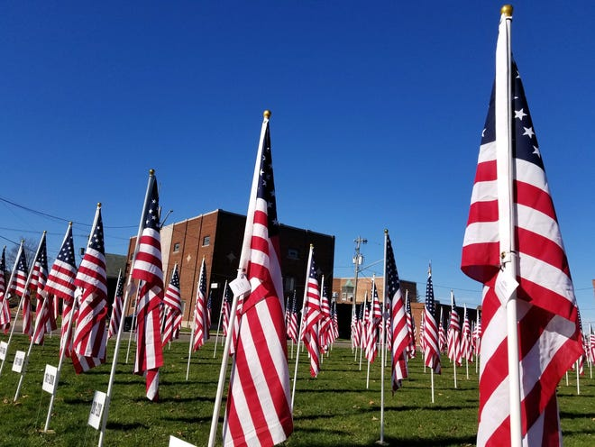 The St. Ann's Academy Field of Honor  in Hornell remembers the heroes that have served, protected and defended the nation at home and around the world.