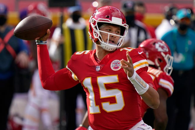 Kansas City's Patrick Mahomes is one of four young quarterbacks left in the AFC playoffs, while the NFC has three QBs age 37 or older.