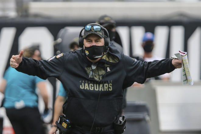 Jaguars' coach Doug Marrone faces a monumental challenge trying to get wins the rest of the 2020 season. His team has the toughest remaining schedule of anybody in the NFL, with opponents having a combined record of 44-21.