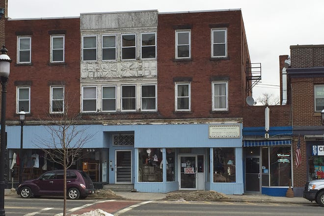 A recent view of the Lillie Block in Gardner.