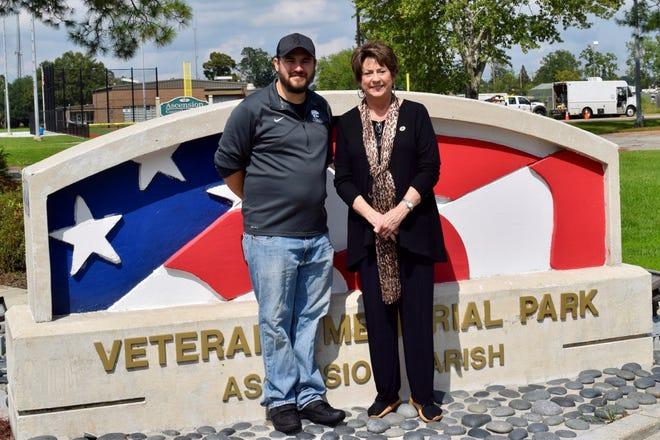 Air Force veteran Jacob Gee and State Rep. Kathy Edmonston