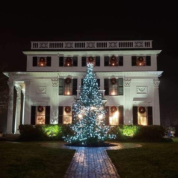 Asa Waters Mansion in Millbury is decorated every holiday season