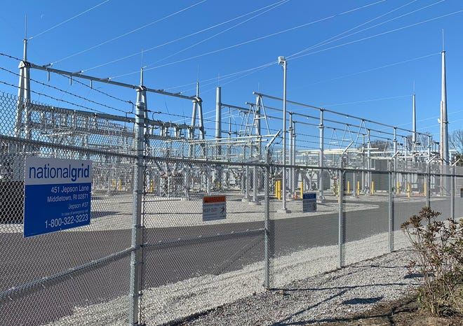 The new substation on Jepson Lane in Middletown.