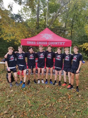 Members of the Oak Ridge High School cross country team are, from left to right, Isaac Basler, Jack Biewer, Manny Cruz, Eddie Moore, Jackson Sullivan, Parker Bell, Eli Cox and Garret Cantrell. Special to The Oak Ridger
