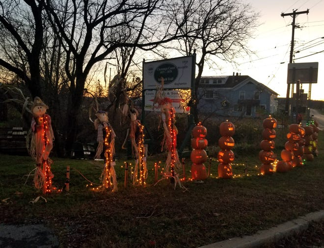 This Halloween display in front of the Chenango Canal Cottage Museum in Bouckville was a reminder that even while COVID-19 is still around there are many volunteers who will come out to spread good will to others.