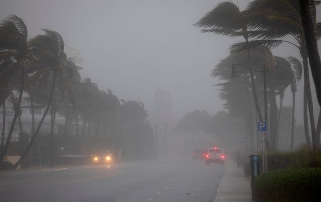 A squall from Tropical Storm Eta moves over Midtown Beach in November. Town officials want residents to be prepared for what is expected to be another hectic storm season.
