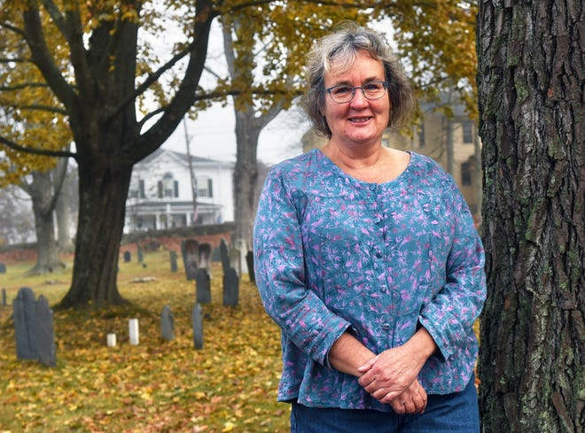 Kinley Gregg won the Nov. 3 election for the York Board of Selectmen and her home is next door to the town hall and the Old Parish Cemetery in town.