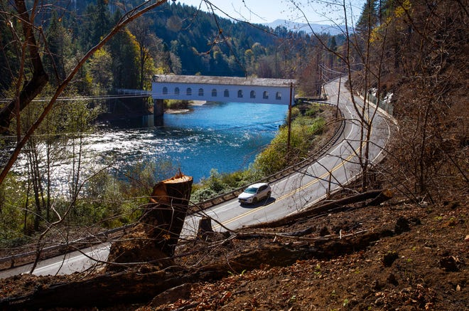 The Goodpasture Covered Bridge crosses the McKenzie River -- one of the waterways in the Wild and Scenic river systems -- east of Springfield along Highway 126.