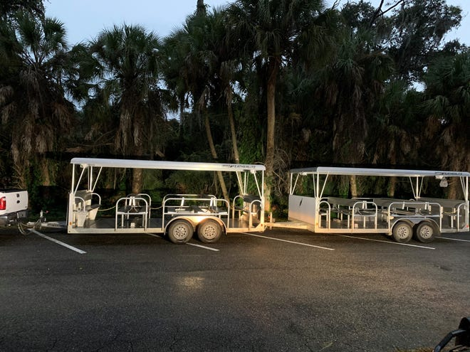 A girl was run over after she fell from a sightseeing trailer-tram at Myakka River State Park on Nov. 7 in Sarasota County.