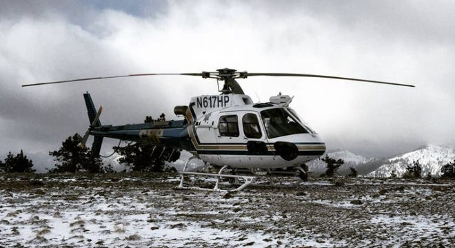 A CHP Northern Division Operations helicopter was used to locate a missing hiker on the slopes of Mt. Shasta early Sunday morning, Nov. 8.