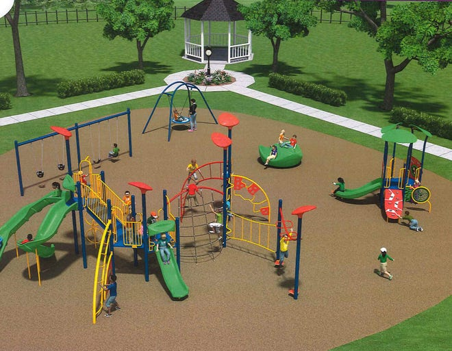 Pictured, updated play equipment which is ordered for Meadows Park and scheduled to be installed in January, weather permitting. [CONTRIBUTED PHOTO]