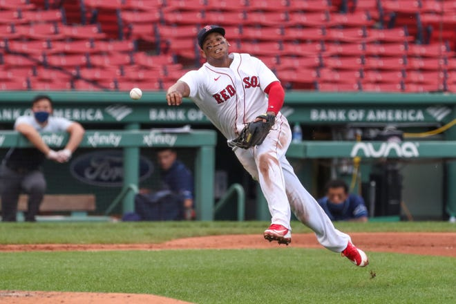 Improved defense will be a goal for Rafael Devers and the Red Sox in 2021.
