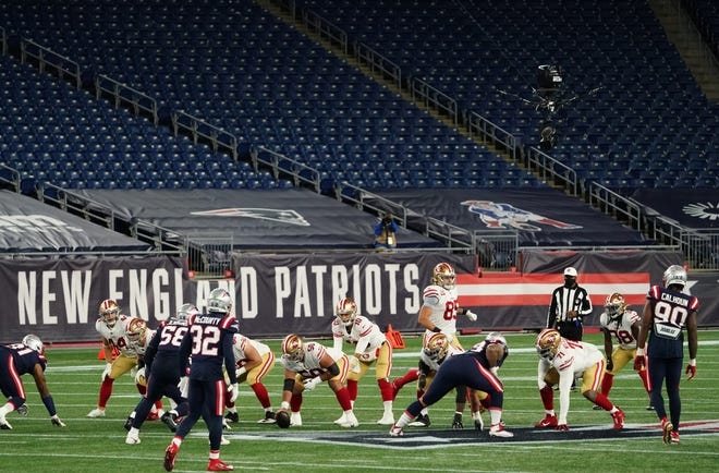 The Patriots will play their final four home games before empty stands at Gillette Stadium.
