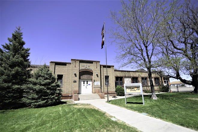 The Pueblo County School District 70 administration building. .