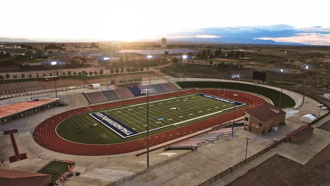 The Neta & Eddie DeRose ThunderBowl on the Colorado State University Pueblo campus will host all seven prep football state championship games in December. [Courtesy photo/CSU Pueblo athletics
