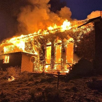 Thanks to smoke alarms, two residents of this home were able to safely escape a Monday morning fire.