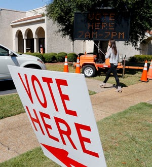 Voters go to the polls at Calvary Baptist Church Tuesday, Oct. 8, 2019 to vote in a special election to replace district four councilman Matt Calderone who moved out of district. [Staff Photo/Gary Cosby Jr.]