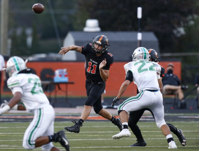 """Junior Austin Dowell emerged as the starting quarterback for the Delaware Hayes football team. """"I thought he did a great job and he really grew as the season went on,"""" said coach Scott Wetzel, whose team finished 2-8."""