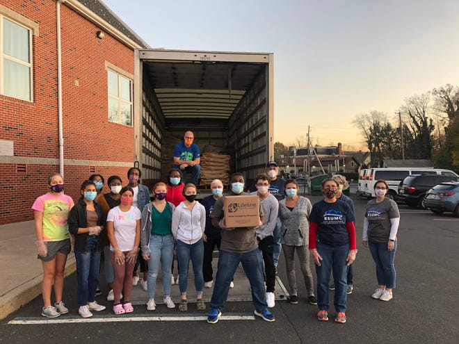 In coordination with Lifeline Christian Mission, East Stroudsburg United Methodist Church volunteers packed more than 40,000 meals during its annual Meal Pack for Haiti.