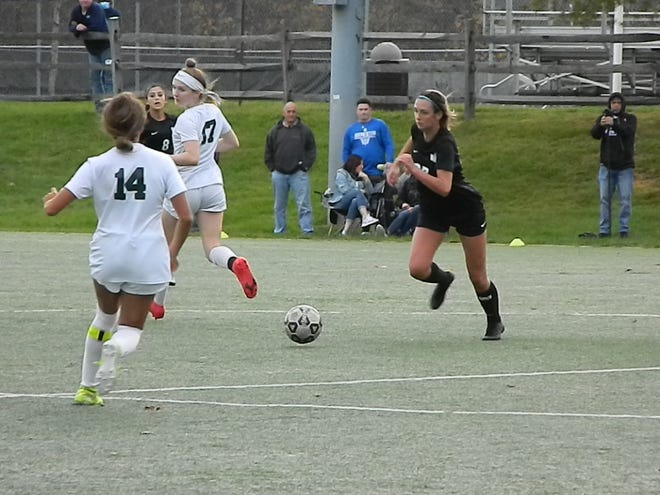 East Brunswick at Old Bridge girls soccer on Oct. 27, 2020.