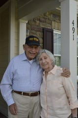 Sanford and Sylvia, the love of his life and wife of 64 years, in October 2017. Sylvia died in 2018.