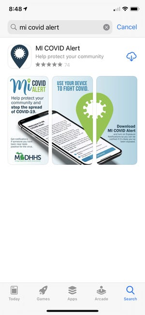 Called MI COVID Alert, the free app for iOS and Android smart devices was rolled out statewide Monday by the state Department of Health and Human Services in conjunction with the Michigan Department of Technology, Management and Budget.