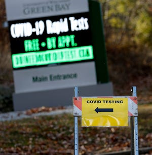UW-Green Bay began offering rapid COVID-19 testing by appointment outside the Weidner Center on Nov. 9, 2020, in Green Bay, Wis.