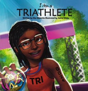 """Cover of 2020 book """"I am a Triathlete"""" by Nia Obotette."""