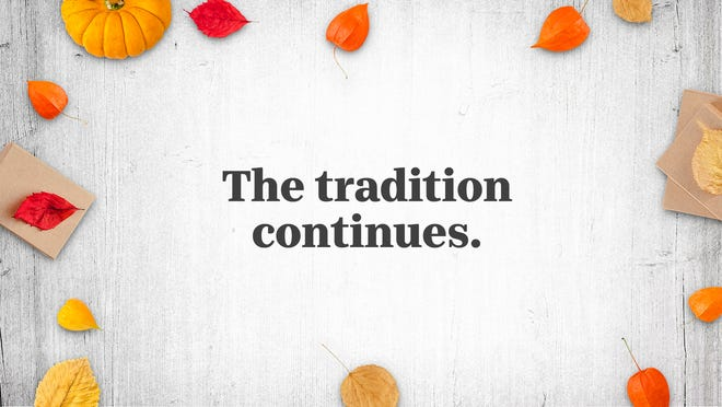 The tradition continues. Don't miss our holiday papers!
