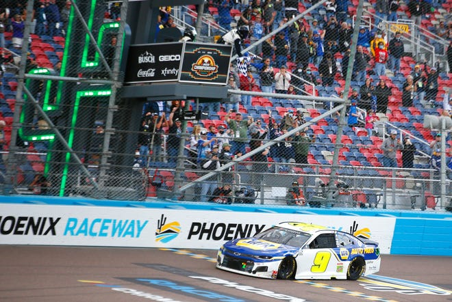 Chase Elliott wins the Season Finale 500 capturing the 2020 NASCAR Cup Series Championship at Phoenix Raceway in Phoenix, Ariz. on Nov. 8, 2020.
