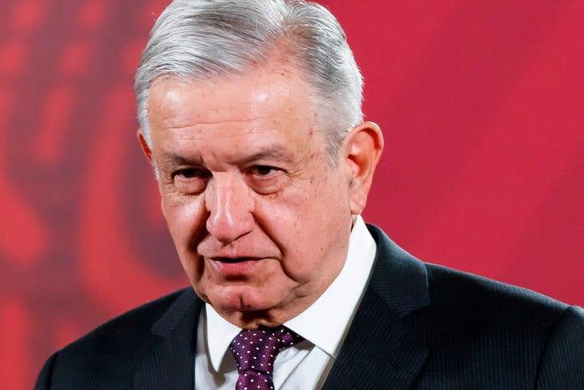 El presidente de México, Andrés Manuel López Obrador, durante su conferencia de prensa matutina en Palacio Nacional en Ciudad de México (México).