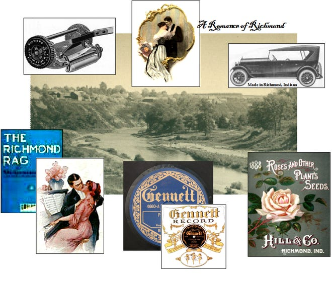 Image of early Richmond, which would become the City of Roses, Lawnmower Capitol of the world, have a car named after it, a rose, two movies and a song, and become the cradle of recorded jazz.