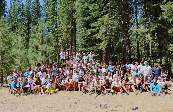 Indigenous youths gather for a picture after an annual ancestral run.