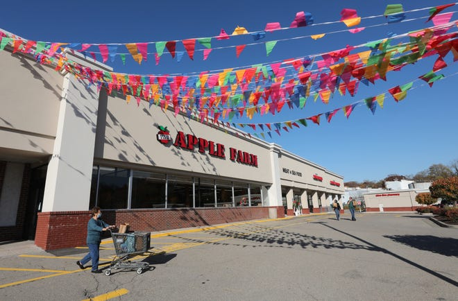 Shoppers emerge from the new Apple Farm at 20 Welcher Avenue in Peekskill, Nov. 9, 2020.