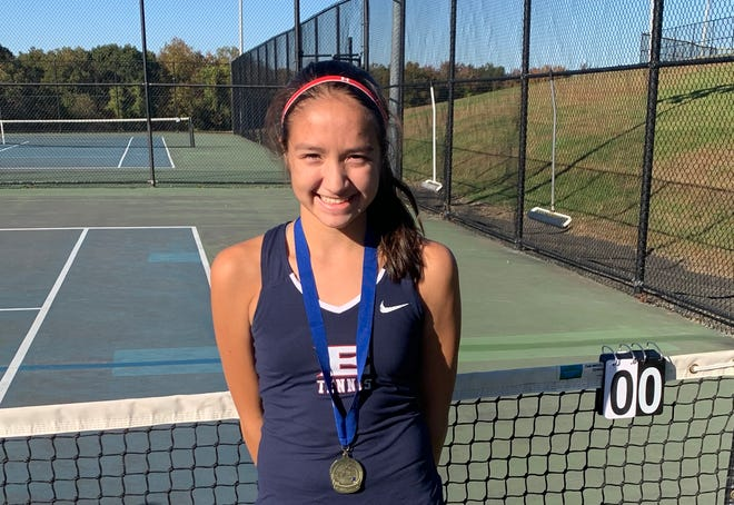 Eastchester freshman Selma Petrie was the winner of the Southern Westchester Large School regional girls tennis tournament.
