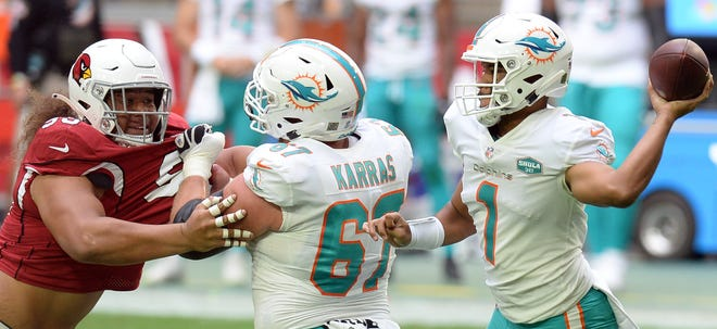 Tua Tagovailoa is 2-0 as starting QB of the Dolphins.
